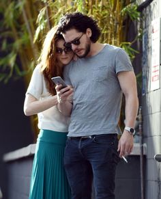 Jon Snow and Ygritte are back together! Kit Harington and Rose Leslie spotted getting cosy and kissing in LA - DigitalSpy.com
