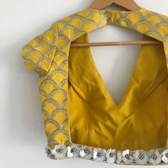 The Summer Fling Blouse Only – WaliaJones Saree Blouse Neck Designs, Simple Blouse Designs, Kurta Neck Design, Stylish Blouse Design, Dress Designs, Sari Design, Designer Blouse Patterns, Textiles, Creations