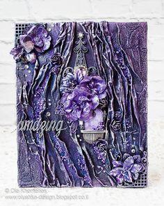 LikeArtStudio by Ola Khomenok: Mixed media canvas. Purple amazing.