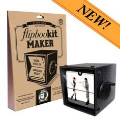 FlipBooKit is a DIY, hand-cranked movie machine that displays your video or animated art as a flip book for creatives of all ages. Make or gift a FlipBooKit