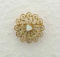 Sunburst Pin/Pendant Set with a Cabochon Cut by PattyHansenGallery, $800.00
