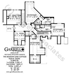Lakeview Cottage House Plan# 05357, 2nd Floor Plan, Mountain Style ...
