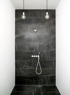 Most Design Ideas Black Tile Bathroom Pictures And Black Tile Bathrooms, Black Marble Bathroom, Mold In Bathroom, Small Bathroom, Vanity Bathroom, Marble Wall, Bathroom Modern, Marble Tiles, Remodel Bathroom