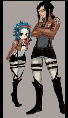 Gajevy This couple seriously reminds me of Ymir and Historia. #sorrynotsorry