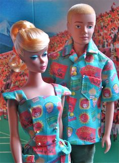 Barbie and Ken set made from original vintage reproduction fabric ~ WHAT EXACTLY IS ORIGINAL VINTAGE REPRODUCTION?