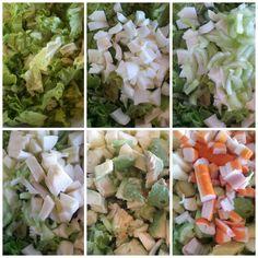 El festín de Marga: Ensalada de aguacate, huevo y cangrejo