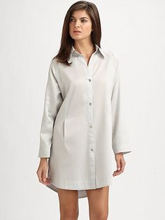 Donna Karan - Sateen Laundered Sleepshirt