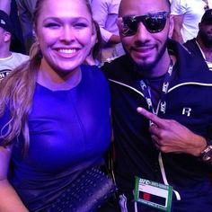 Ronda and #ArmbarNation member Swizz Beats at UFC 159 in Newark, NJ - Photo by therealswizzz / RondaRousey.net