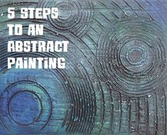 5 Steps to an original abstract painting!  #tutorial #art
