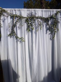 Simple Rustic Photo Backdrop by BW Events Floral Design