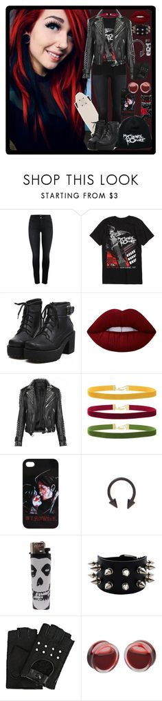 """""""MCR"""" by chemicalfallout249 on Polyvore featuring Burberry, Rock 'N Rose, Karl Lagerfeld and alternative"""