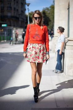 STREET STYLE SPRING 2013: PARIS FASHION WEEK - The Kenzo sweatshirt is Fall's answer to the must-have knit.