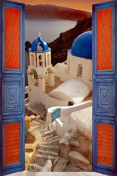 Unique architecture and colors in #Santorini