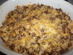 Sandy's Kitchen: Taco Bake - My hubs and I love this recipe! I double the recipe and store leftovers in individual containers in the freezer and just nuke one when I don't want to cook.