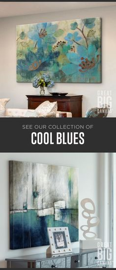 Find Blues In Every Shade, From Tones With Vibrant Rhythm And Soul To Quiet, Cloud-Streaked Morning Sky. Investigate Our Collection Of Best Selling Blue Themed Wall Art At Navy Blue Wall Art, Blue Wall Decor, Blue Artwork, Wall Art Decor, Acrylic Art, Abstract Wall Art, Monet, Painting Inspiration, Art Projects