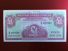 £1 British Forces Banknote Serial Number K/2 427321 Personalised Initial K