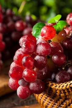 Organic Raw Red Grapes by Brent Hofacker - Photo 83059405 - Fruits And Vegetables Pictures, Vegetable Pictures, Fruits Photos, Fruits And Veggies, Fruit And Veg, Fresh Fruit, Healthy Fruits, Healthy Snacks, Fruit Picture