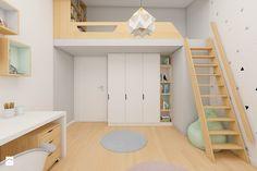 Aranżacje wnętrz - Pokój dziecka: Pokój dziecięcy z antresolą - Interiology. Przeglądaj, dodawaj i zapisuj najlepsze zdjęcia, pomysły i inspiracje designerskie. W bazie mamy już prawie milion fotografii!