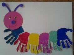 handprint caterpillar craft