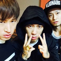 Epik High's Tablo with Dok2 and The Quiett. (nah if i could crop Tablo out)