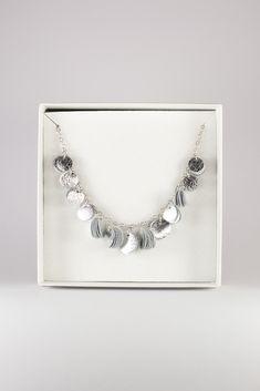 Reindeer leather Siula necklace by Oikku Design Reindeer, Diamond, Silver, Leather, Jewelry, Design, Fashion, Moda, Jewlery