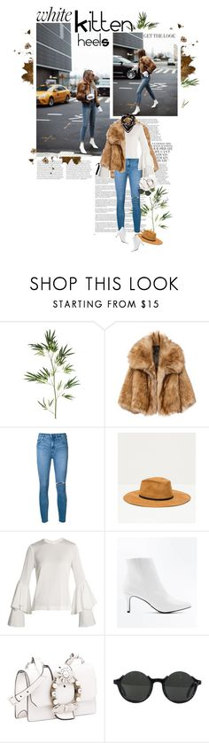 """""""How To Style White Shoes: Ankle Boots Kitten Heels"""" by solespejismo ❤ liked on Polyvore featuring Whiteley, Pier 1 Imports, Nobody Denim, Zara, Galvan, New Look, Miu Miu, Jean-Paul Gaultier and Marni"""