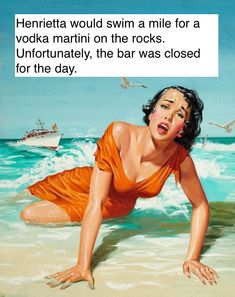 1957 08 Made it to the shore - Men's Adventure Illustration I love this illustration, beautiful drawing, technique and girl, her expression and the sense of mystery it conveys. She wears a dress so this is not an accidental drowning. She is a victim. Martini On The Rocks, Robert G, Australian Politics, Pulp Magazine, Up Book, Art Memes, Pulp Art, Beautiful Drawings, Book Title