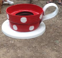 Tire tea pot