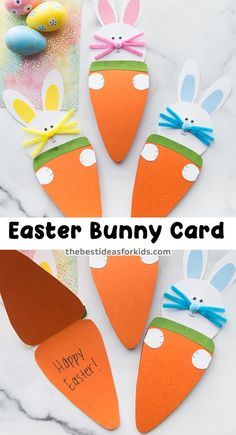 Easter Bunny Card - such a cute Easter card to make! Free printable template included on the post. gifts for boys Easter Bunny Card Spring Crafts For Kids, Easter Art, Bunny Crafts, Easter Crafts For Kids, Easter Decor, Toddler Crafts, Easter Eggs, Easter Bunny Template, Bunny Templates