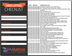 Free New Buyer Check List New Listing Check List Open House Checklist For Real-estate Agents and Realtors and Brokers