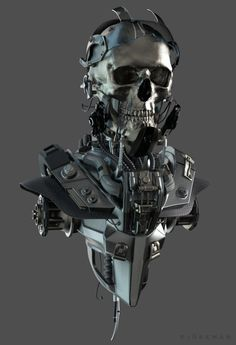 ArtStation - Cyborg Bust, by RORY BJÖRKMAN More robots here.