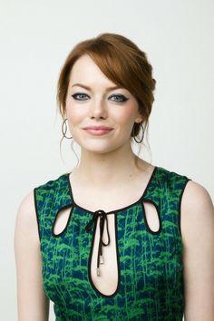emma stone - keyhole neckline - wear interesting necklines like these!