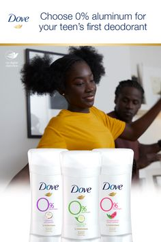 For her first deodorant, give your daughter effective odor protection. Dove Aluminum Deodorant has aluminum, alcohol, and ¼ moisturizers. That's care you can count on. Dove Deodorant, Good Advice, Vinyl, Insta Makeup, Makeup Junkie, Alcohol, Skin Care, Moisturizers, Lotions