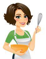 Woman In Apron Cooking stock vector art 24169571 - iStock Cartoon Pics, Cartoon Drawings, Chef Logo, Girl Cooking, Pics Art, Pin Up Tattoos, Food Packaging Design, Custom Logo Design, Free Vector Art