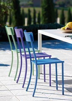 2083, Stuhl aus verzinktem Eisen, für den Außenbereich