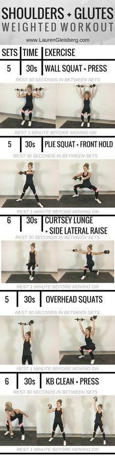 #LGFitAndLean2016 Challenge: Shoulders   Glutes (W3D5) \u2013 Lauren Gleisberg #weightlossfast10pounds