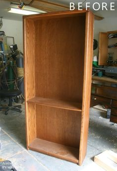 """You know those older, heavier, aka """"made with real wood"""" bookshelves that you come across from time to time. You may find yourself thinking, if I were to purchase those how could I make them """"more attractive"""". Look no further because Pneumatic Addict Furniture has taken out the guess work!"""