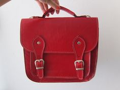 Ten Super Cute Satchels to Tote  Red leather satchel bag by goldenponies on Etsy