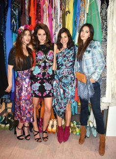 Rowan Lewis, Rosanna Falconer, Jasmine Hemsley and Doina Ciobanu (Golden Diamonds) celebrated the launch of Matthew Williamson's beach capsule with THE OUTNET. They wore the vibrant prints of spring's Amazonia collection.