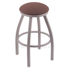 "Varick Gallery Cragin 36"" Swivel Bar Stool Upholstery: Axis Willow, Finish: Pewter"