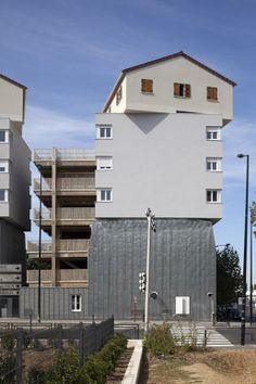 Viviendas Urban Collage por Edouard François. Fotografía © Paul Raftery.