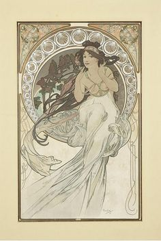 "Alphonse Mucha ""Les Arts"" - great composition"
