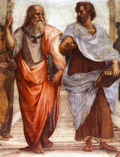 Plato and Aristotle - Repinned by UXSherlock.