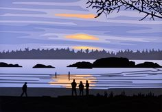MacKenzie Beach - Tofino Artwork by Roy Henry Vickers Watercolor Landscape, Landscape Art, Watercolor Art, Wildlife Paintings, Indigenous Art, Canadian Artists, Native Art, Vancouver Island, Traditional Art