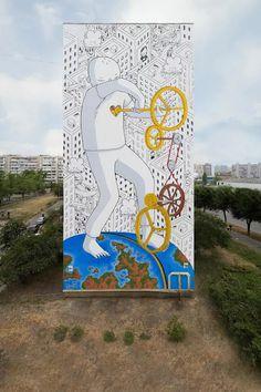 """""""El amor maneja el mundo"""" por Millo en Kiev, Ucrania"""
