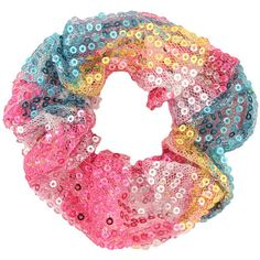 Sequined Ombré Scrunchie (£1.86) ❤ liked on Polyvore featuring accessories, hair accessories, fillers, hair, women, forever 21 hair accessories, scrunchie hair accessories, sequin hair accessories and forever 21