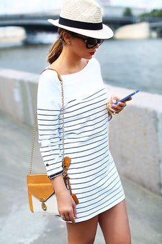 T-shirt dress striped