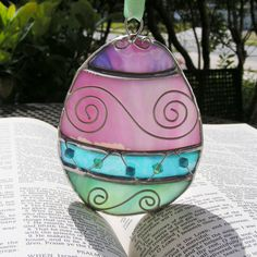 NEW Stained Glass Ornate Pastel Colored Easter by MoreThanColors,