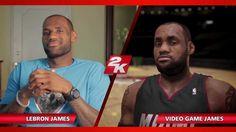 LeBron James graphics on NBA2k14