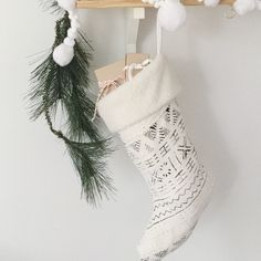 Shearling cuffed African Mudcloth Christmas stocking by HouseofPillows on Etsy https://www.etsy.com/listing/255326126/shearling-cuffed-african-mudcloth